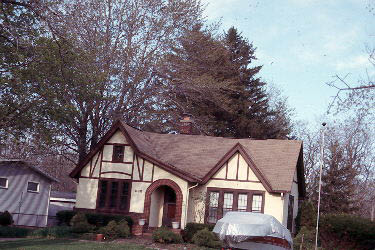 Home with Tudor revival architecture